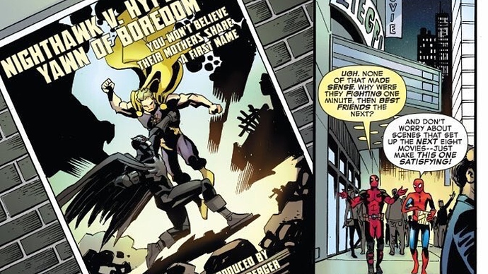 Marvel Makes Fun of BATMAN V SUPERMAN in SPIDER-MAN/DEADPOOL Comic ...
