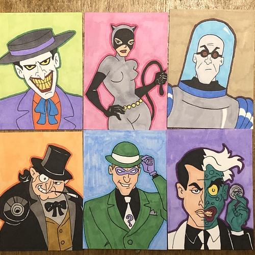 Batman Villains - DCAU Sketch Cards
