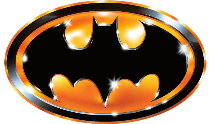 Batman 1989 Chrome Logo by Alex Flick