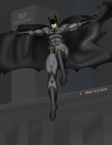 Batman Leaping Down