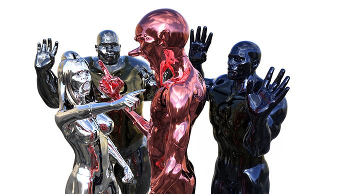 metal Men aruging