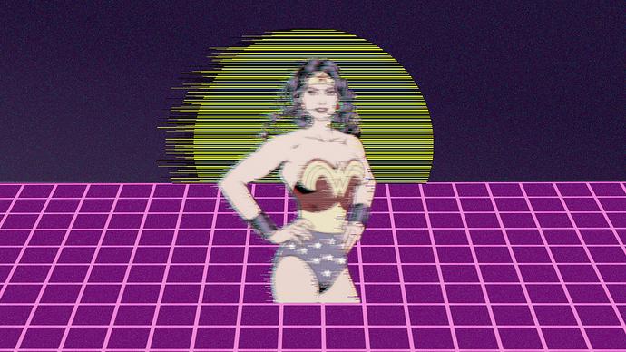 wonder woman glitch