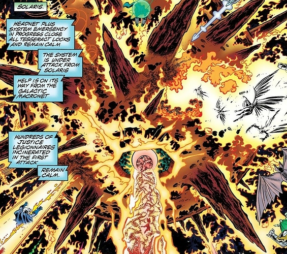 7163792-energy manipulation- kills hundreds of justice legionnaires (front line fighters who have the powers of usually two superheroes, like superman and metamorpho) (dc one million #4)~2