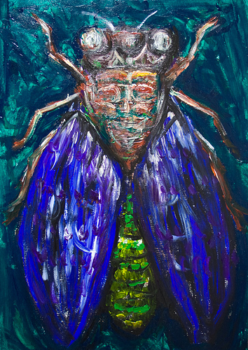 IMG_9461_surreal_expressionism_realism_insect_The_Blue_Cicada