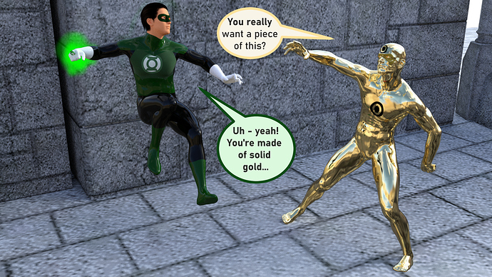 green lantern and gold