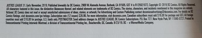 DC Comics Subscription Information