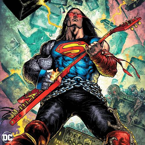 Dark Knights Death Metal Soundtrack Vinyl - Superman Variant Cover