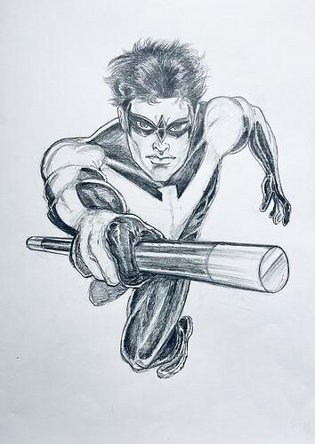 Nightwing Pencil Art 800px