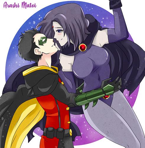 Damian x Raven by Arashi-Matoi on DeviantArt