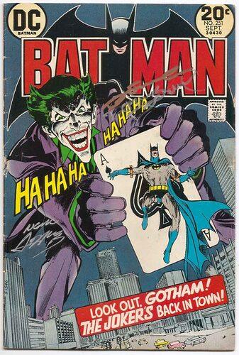 Batman # 251 SIGNED by Neal Adams & Dennis O'Neil Classic Joker - Brooklyn  Comic Shop