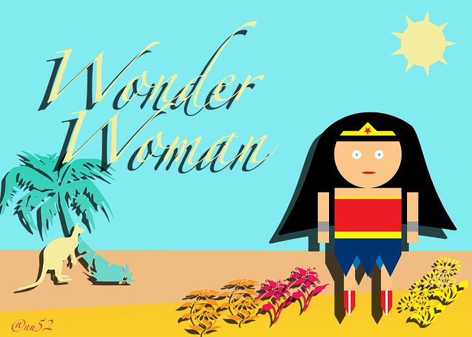 wonder woman and kanga