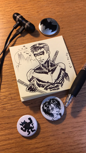 sticky-note-nightwing-sketch_49843497067_o