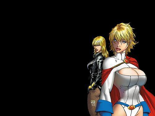 Black Canary Power Girl Wallpaper