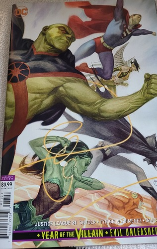 Justice League #31 Cover and Price