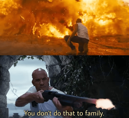 You don't do that to family