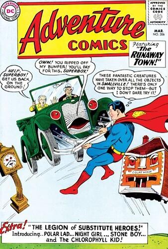 Adventure 306 b and w superboy