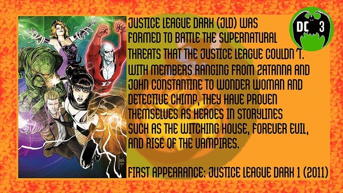 Justice League Dark back
