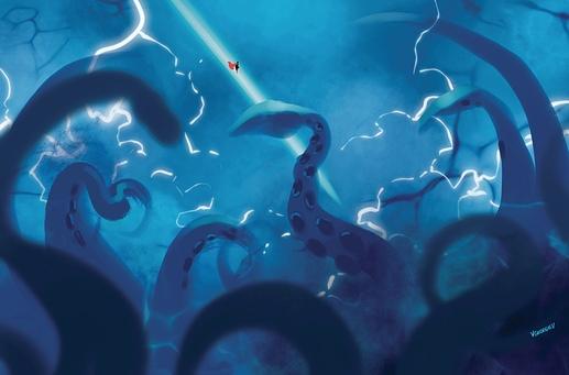 Superman and the gigkraken of Neptune