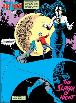 Batman 377 1st panel