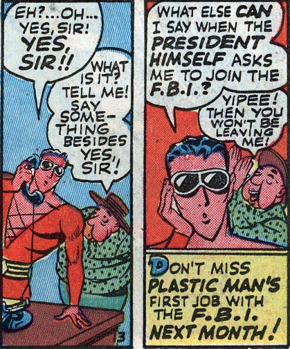 Plastic Man Joins the FBI