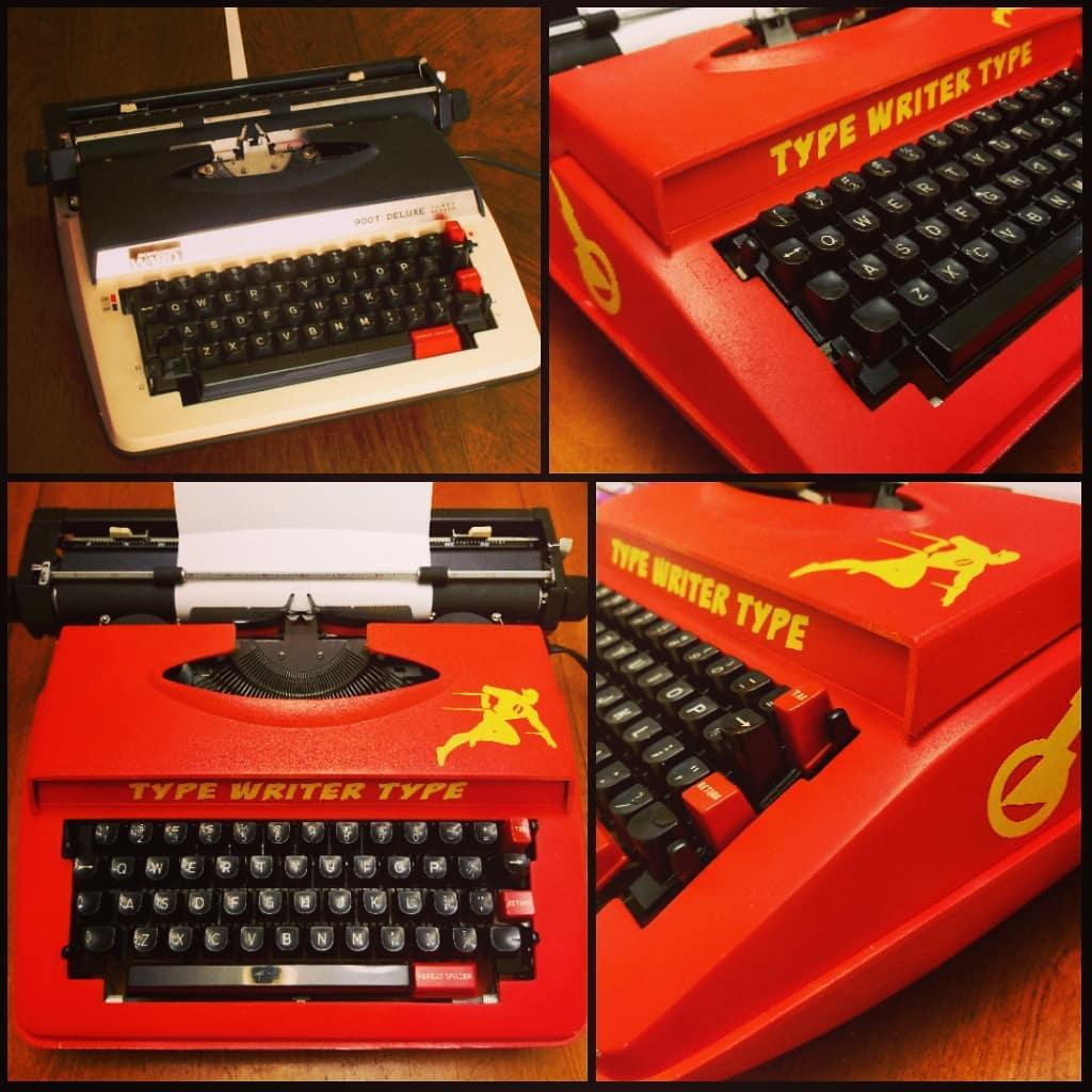 Typewriter flash