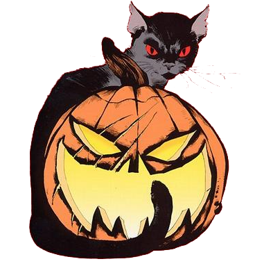 Long Halloween Cat