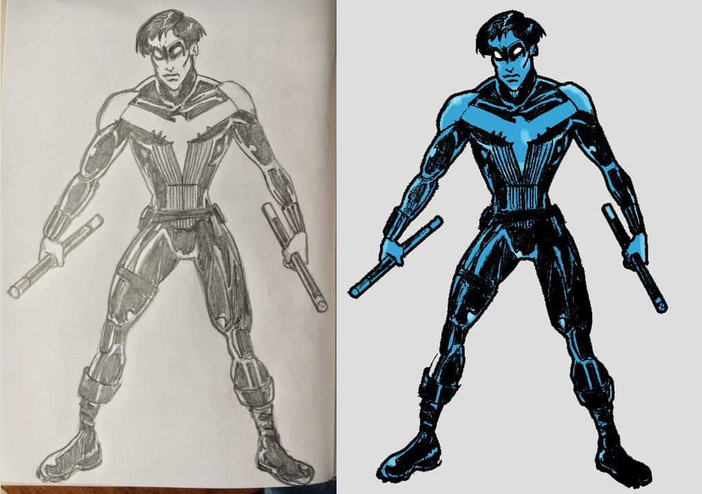 nightwing-pencil-and-psd
