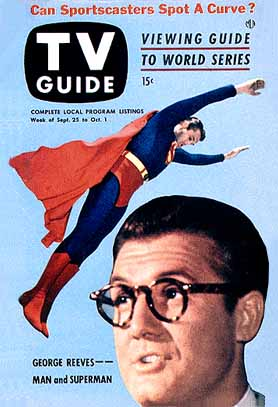 Adventures of Superman 50s TV TV Guide Cover